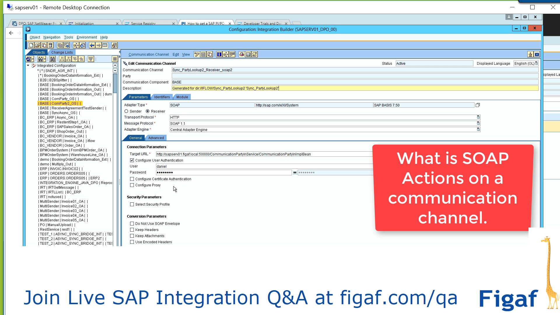What is SOAP Actions on a communication channel? - SAP PI course